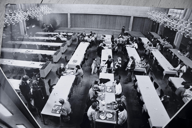Arkivbild från sextiotalet, då det var lunchrestaurang i Stora salen.