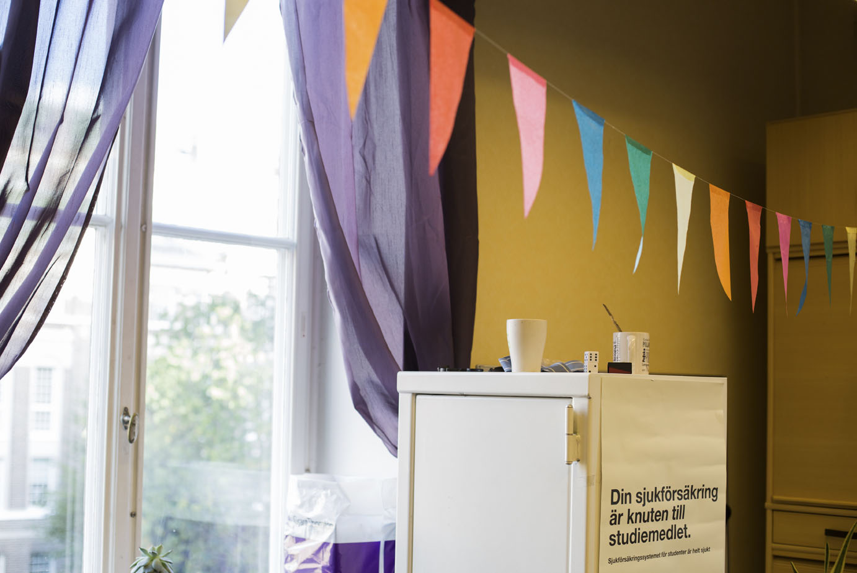 Göta studentkår har också kontor i huset. Foto: Marit Lissdaniels